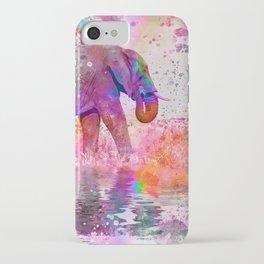 Pop Art Jungle Elephant iPhone Case