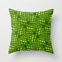palm Throw Pillows featuring Palm  by dominiquelandau