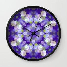 Purple Abstract Bubble Design SB9 Wall Clock