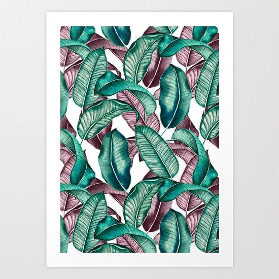 TROPICAL PATTERN-04 Art Print