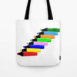 Highlighter Pens In Line Tote Bag