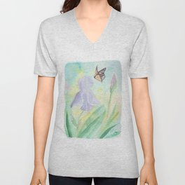 Once upon a time, in a watercolor garden Unisex V-Neck