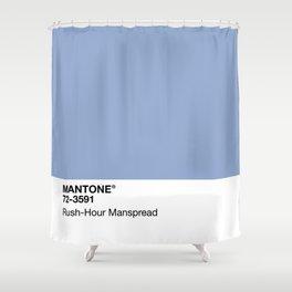 MANTONE® Rush-Hour Manspread Shower Curtain