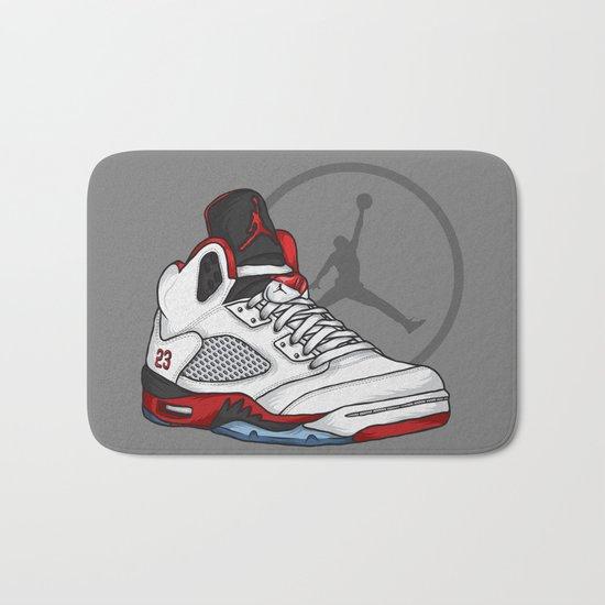 Jordan 5 (Fire Reds) Bath Mat