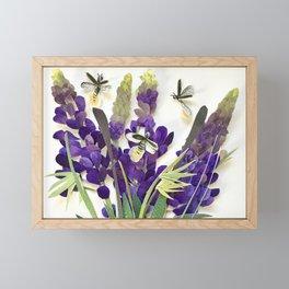 Light Bug Lavender Framed Mini Art Print
