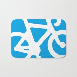 Blue Bike Bath Mat