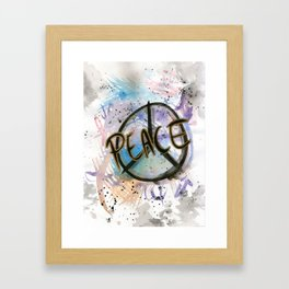 Peace Sign Art Print Framed Art Print