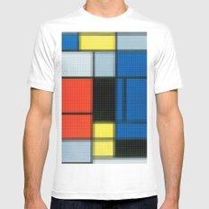 Lego: Piet Mondrian no.2 Mens Fitted Tee MEDIUM White