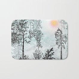 Winter in the woods . Bath Mat