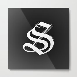 Letter S Metal Print