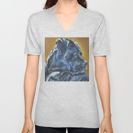 A Cane Corso dog portrait from an original painting by L.A.Shepard Unisex V-Neck