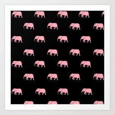 pink elephants Art Print