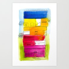 Rainbow High Rise Art Print