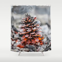 Winter Pinecone Shower Curtain