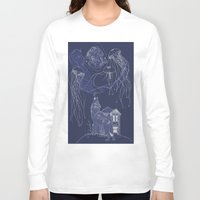 jelly fish Long Sleeve T-shirts featuring Jelly Fish by Jessica Bowman Illustrates