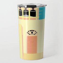 Wind-towers of Bastakiya by Dubai Doodles 005 Travel Mug