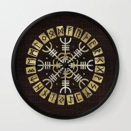 The helm of awe Wall Clock