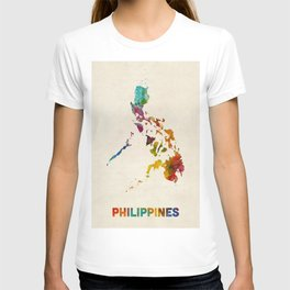 Philippines Watercolor Map T-shirt