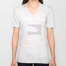 Erosion & Typography 3 Unisex V-Neck