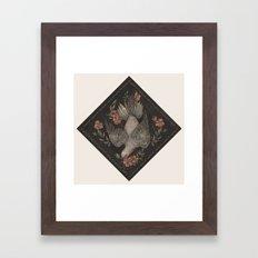 Dove and Flowers Framed Art Print