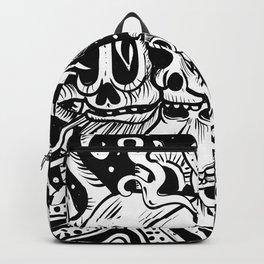 Skull Doodle Backpack