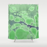 peter pan Shower Curtains featuring What Peter Pan sees by Dominique Gwerder