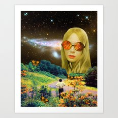 Distant Meeting Art Print