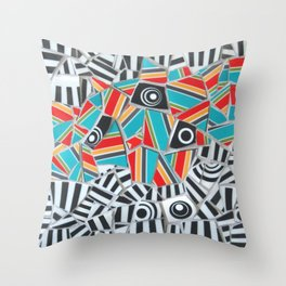One, Two, Many Stripes Throw Pillow