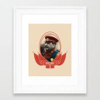 soviet Framed Art Prints featuring Soviet Mario by Dogan Kilinc
