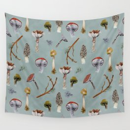 Mushroom Forest Party Wall Tapestry