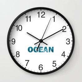 Ocean Waves Foamy Water Wall Clock