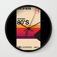 tape Wall Clocks featuring Super Tape by Mathiole
