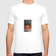 dance in shape Mens Fitted Tee White MEDIUM