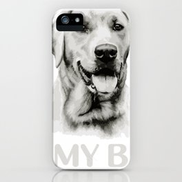 Labrador is my BFF Animal Portrait iPhone Case