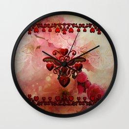 Wonderful hearts Wall Clock