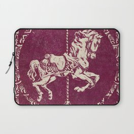 Vintage Carousel Horse - Mulberry Laptop Sleeve