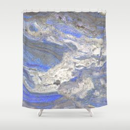 Arabescato-Orobico-Blue-Marble Shower Curtain