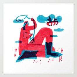 Runaway Pegasus Art Print