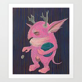 Pink Monster Art Print