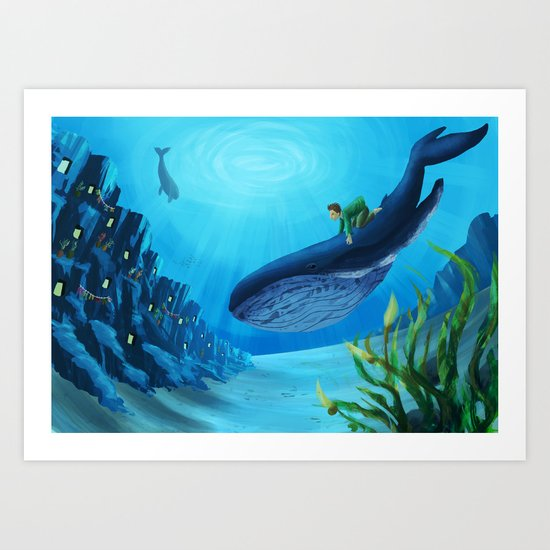 What if we could live underwater? Art Print