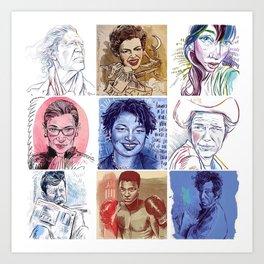 Portraits!  Art Print