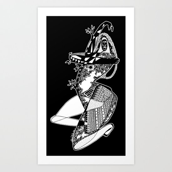 Dance with me - Emilie Record Art Print