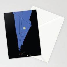 Moon lines Stationery Cards