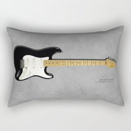 Stratocaster Blackie 1977 Rectangular Pillow