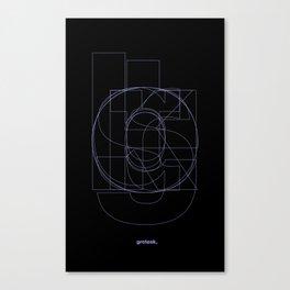 Die Neue Haas Grotesk (B-03) Canvas Print
