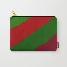 Red and Green Christmas Gift Carry-All Pouch