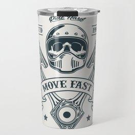 Motorcycle Club Illustration Travel Mug