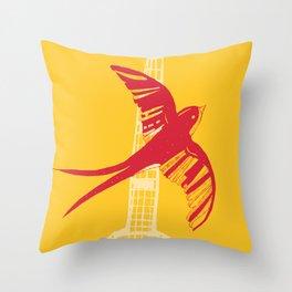 Swallow Throw Pillow