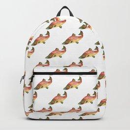Sockeye salmon fish watercolor Backpack