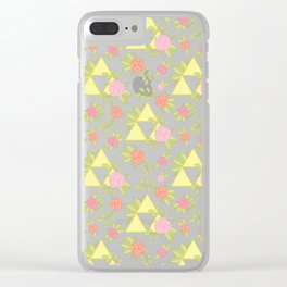 Garden of Power, Wisdom, and Courage Pattern in Grey Clear iPhone Case